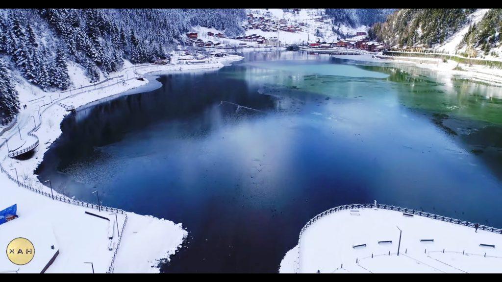 Uzungöl turizm merkezi kış görüntüsü